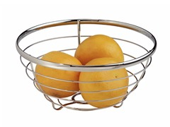 InterDesign Axis Chrome Fruit Bowl