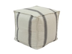 "Chooty Palais Black 17"" Square Pouf"