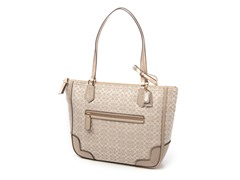 Coach Poppy Signature Metallic Small Tote, Khaki