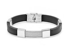 Bracelet w/ Center Steel Accent