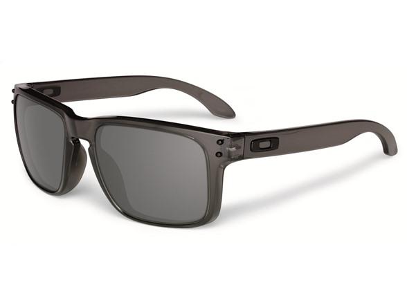 Oakley OO9102-24 Oakley Holbrook Iridium Sunglasses- Black/Smoke
