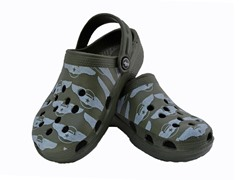 Green Aviation Wings Clog