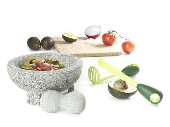 Molcajete And Avocado Knife Set