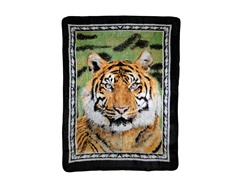 Hi Pile Printed 60x80 Throw-Tiger Portrait