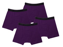 Kings Underwear Boxer Briefs 4-Pack, Purple