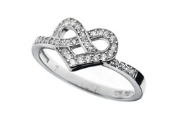 Sterling Silver and CZ Knot Ring
