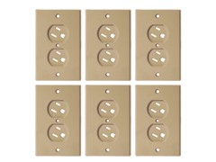 Beige Swivel Outlet Cover - 6 Pack