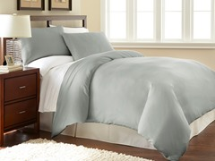 Micro Flannel® Duvet Cover Set-Grey- 2 Sizes