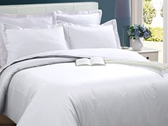 Microfiber Duvet Cover Set-White-2 Sizes