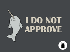Disapproving Narwhal U Tank Top