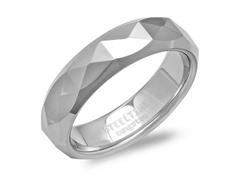 Tungsten Band Ring w/ X Shape