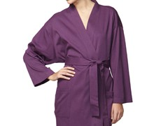 Organic Cotton Jersey Knit Robe - Purple