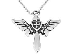 Stainless Steel Wing Pendant w/ Chain