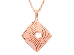 18kt Rose Gold Plated Square MOP Pendant
