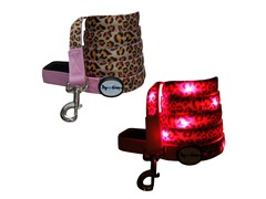 Dog-e-Glow Leopard Print LED Lighted Leash 6'