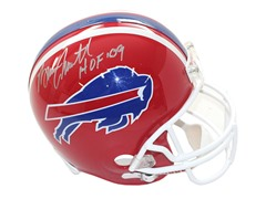 Bruce Smith Signed Red Bills Mini Helmet