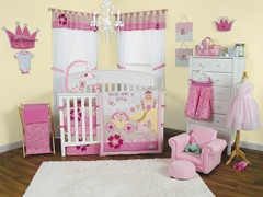 3pc Crib Bedding Set -Storybook Princess