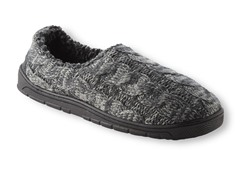 MUK LUKS® Men's Neal Cable Slipper, Charcoal