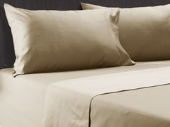 600TC Reversible Sheet Set Khaki-2 Sizes