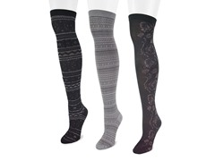 Microfiber 3-Pair Black Pack OTK Socks