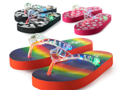 Light Up Flip-Flops 3-Choices