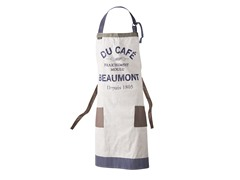 Beaumont Apron - Taupe/Navy