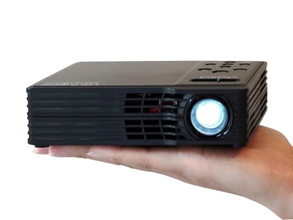 Aaxa 450l wxga led showtime 3d micro projector for Buy micro projector