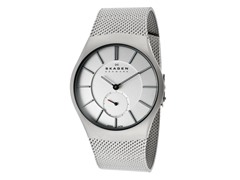 Men's Steel Sandblasted Silver Watch