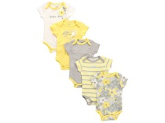 Calvin Klein 5-Pack Bodysuit -Yellow/Grey