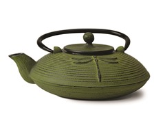 28 Ounce Cast Iron Tea Pot- Green