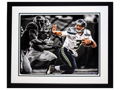 Russell Wilson Signed Framed Photo