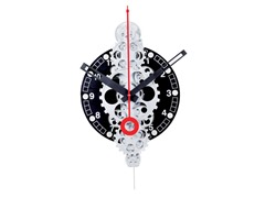 Moving Gear Wall Clock - Black Plexi Dial