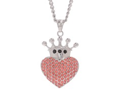 Stainless Steel Crowned Heart