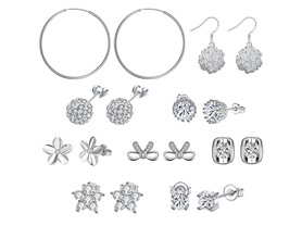 9 Pack Swarovski Elements Earring Set