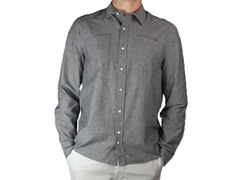 Windsor Charcoal Button-Up Shirt (XL)