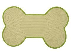 Green Dog Bone Color Edge Rug - 3 Sizes