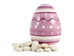 Purple Easter Egg Cookie Jar with 2 8oz Key Lime Coolers