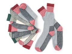 Men's Assorted Color Boot Socks - 6 Pair Pack