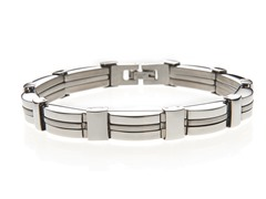 Stainless Steel Triple Beam Bracelet