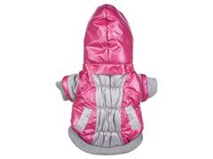 Pink & Beige Aspen Vontage Dog Ski Coat