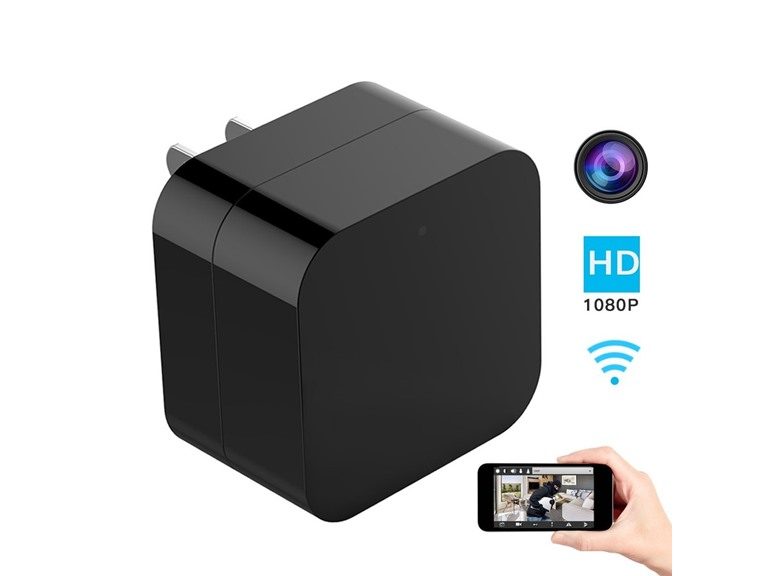 Wall Charger Hidden Camera w/ Night Vision and Wi-Fi