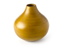 Round Bamboo Vase - Lime