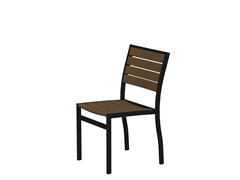 Euro Dining Chair, Black/Teak