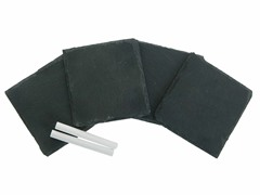 Thirstystone Slate Coaster Set with Chalk