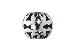 Sterling Silver Bead w/ Filligree Cut Out
