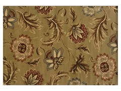 Emery Tan-Gold Floral Rug (Multiple Sizes)
