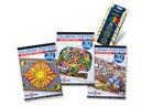 Stuff2Color 3 Coloring Books & 36-Pencil Bundle