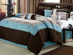 Mustang 8Pc Comforter Set - Brown-2 Sizes