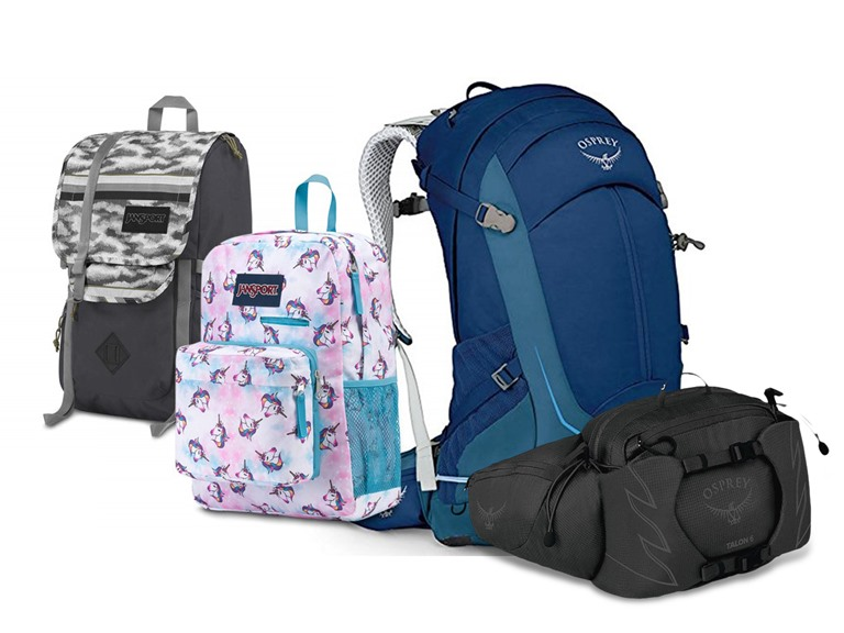 Osprey and Jansport Backpacks and More!