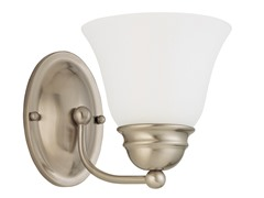 "1-Light 7"" Vanity, Brushed Nickel"